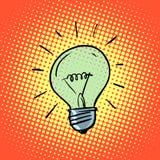 Ideias do símbolo da eletricidade da ampola Fotografia de Stock Royalty Free
