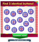Identical buttons 2. Visual Game for children. Task: Find 2 identical buttons Royalty Free Stock Images