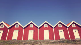 Identical red houses Royalty Free Stock Photography