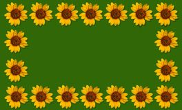 Happpy summer background with sunflowers Royalty Free Stock Photography