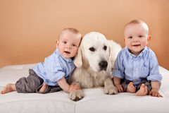 Identical twin boys Royalty Free Stock Photos