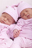 Identical twin sisters Royalty Free Stock Photo