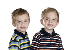 Identical twins stock images