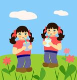 Identical Twins Royalty Free Stock Images