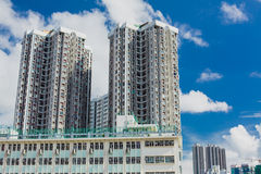 Identical white apartments Hong Kong Stock Images