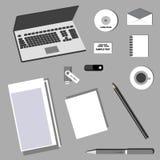Identidad corporativa del negocio en diseño plano Imagen de archivo
