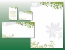 Identidad corporativa fijada - frontera de la flor en verde Fotografía de archivo
