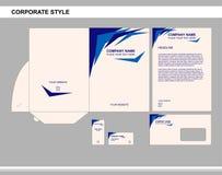 Identidad corporativa, negocio, calificando, publicidad stock de ilustración
