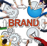 Identidad de la marca registrada de la marca que califica concepto diverso de la gente Imágenes de archivo libres de regalías