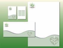 A identidade corporativa ajustou - a planta/mãos/coração ilustração royalty free