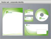 Identidade corporativa da ilustração do vetor Foto de Stock Royalty Free