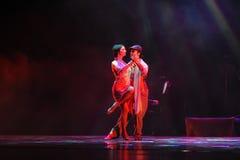 Identidade de uma comunicação- do drama da dança do mistério-tango Imagens de Stock Royalty Free