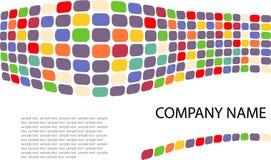 Identidade. Onda Multi-colored feita dos pontos Fotos de Stock Royalty Free