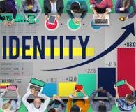 Identidade que marca o conceito comercial do mercado de Copyright Imagem de Stock Royalty Free
