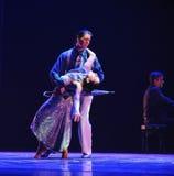Identidade triste do dado- do drama da dança do mistério-tango Foto de Stock Royalty Free