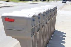 Identieke brievenbussen op een rij Royalty-vrije Stock Foto
