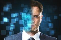 Identificação da cara e conceito futuro fotos de stock royalty free