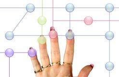 Identificação da mão de Femail imagens de stock royalty free