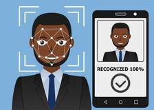 Identificação de Biometrical Reconhecimento de cara Fotografia de Stock Royalty Free