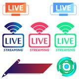 Identificação Live Icon Template dos erros Foto de Stock Royalty Free
