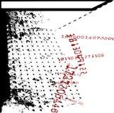 Identificação numérica Grunge da matemática ilustração do vetor