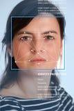 Identificación de la cara Fotografía de archivo