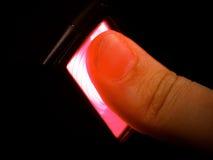 Identificación de la huella digital Foto de archivo libre de regalías