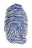 Identificación del código binario Imagen de archivo