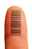 Identificación del dedo Foto de archivo