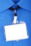 Identificación en blanco fotografía de archivo libre de regalías