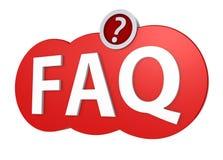 Identificar do FAQ por meio de trajeto de grampeamento Imagem de Stock Royalty Free