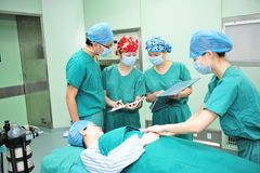 Identificatie van patiënt-preoperative voorbereiding Stock Foto's