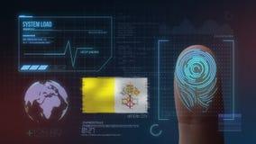 Identificatiesysteem van het vingerafdruk het Biometrische Aftasten De Stadsnationaliteit van Vatikaan stock foto
