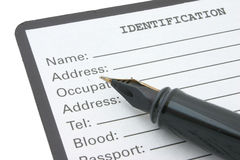 Identification Royalty Free Stock Photo