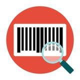 Identification barcode flat icon Stock Photo