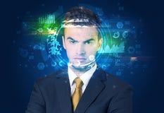 Identification biométrique et reconnaissance faciale images stock