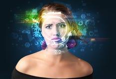 Identification biom?trique et reconnaissance faciale images libres de droits