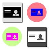 Identification card. flat vector icon royalty free illustration