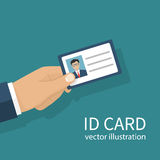 Identification card in hand Royalty Free Stock Image