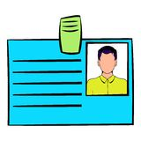 Identification card icon cartoon Royalty Free Stock Photography