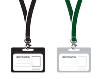 Identification card with lanyard Royalty Free Stock Photos