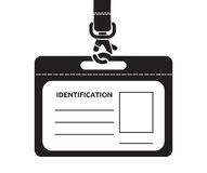 Identification card with lanyard Stock Photo