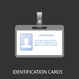 Identification card with a photo Royalty Free Stock Images