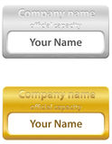 Identification card vector illustration Stock Image