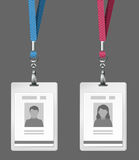 Identification cards template Royalty Free Stock Photo