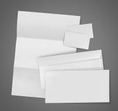 Identification d'entreprise de papeterie d'ensemble vide Image stock