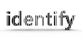 Identification de code barres illustration libre de droits