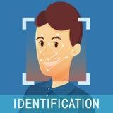 Identification de visage de l'homme illustration libre de droits