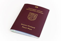 Identification Europe Finland. ID Passport from Soumi Finland, Europe royalty free stock image