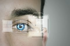 Identification of eye Royalty Free Stock Photos